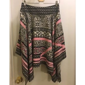 Funky asymmetrical INC skirt